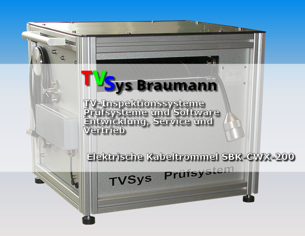 tvsys braumann brunnen tv elektrische kabeltrommel sbk cwx 200 tv inspektionssysteme. Black Bedroom Furniture Sets. Home Design Ideas